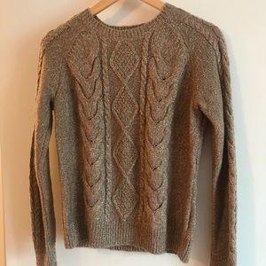 🔥SALE🔥H&M Cable Sweater SubtleMetallic Threading